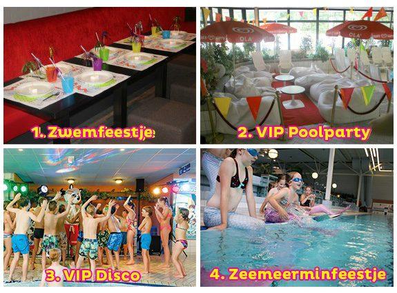 collage zwemfeestjes